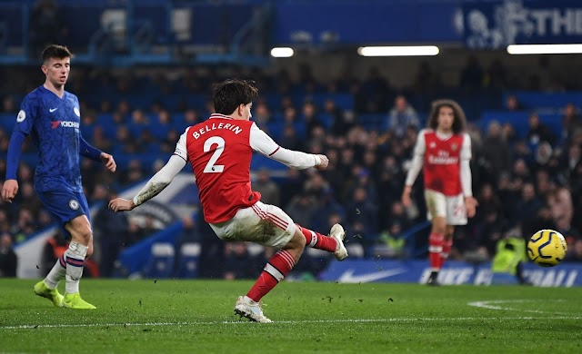 Chelsea 2-2 Arsenal: Captain Bellerin saves 10-man Gunners in intense derby draw