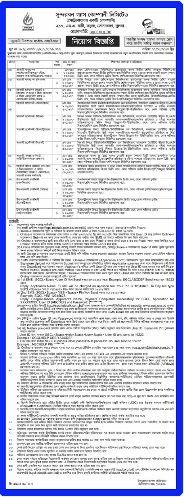 Sondorbon Gas Ltd Job Circular 2020