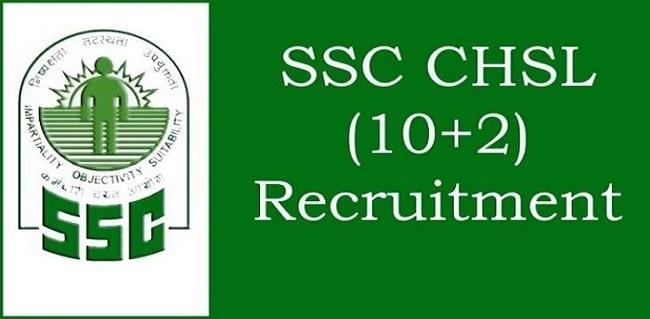 SSC CHSL 10+2 Recruitment 2020