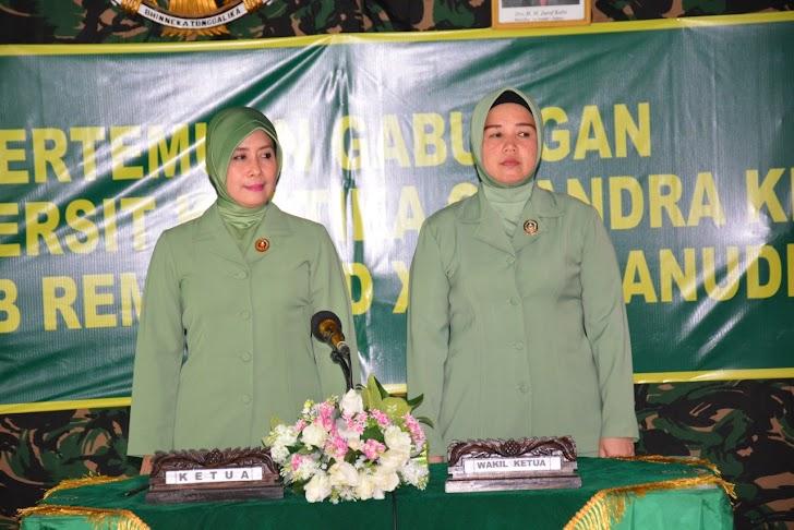 Pertemuan Gabungan anggota Persit KCK Koorcab Rem 141 PD XIV/Hsn