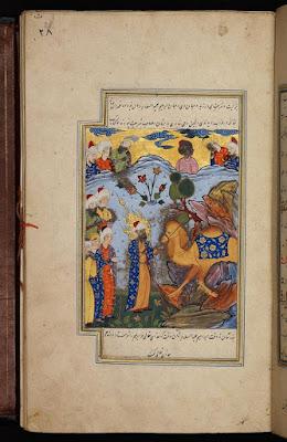 Profeetta Salih näyttää kansalleen ihmeellistä kamelia, jonka Allah antoi