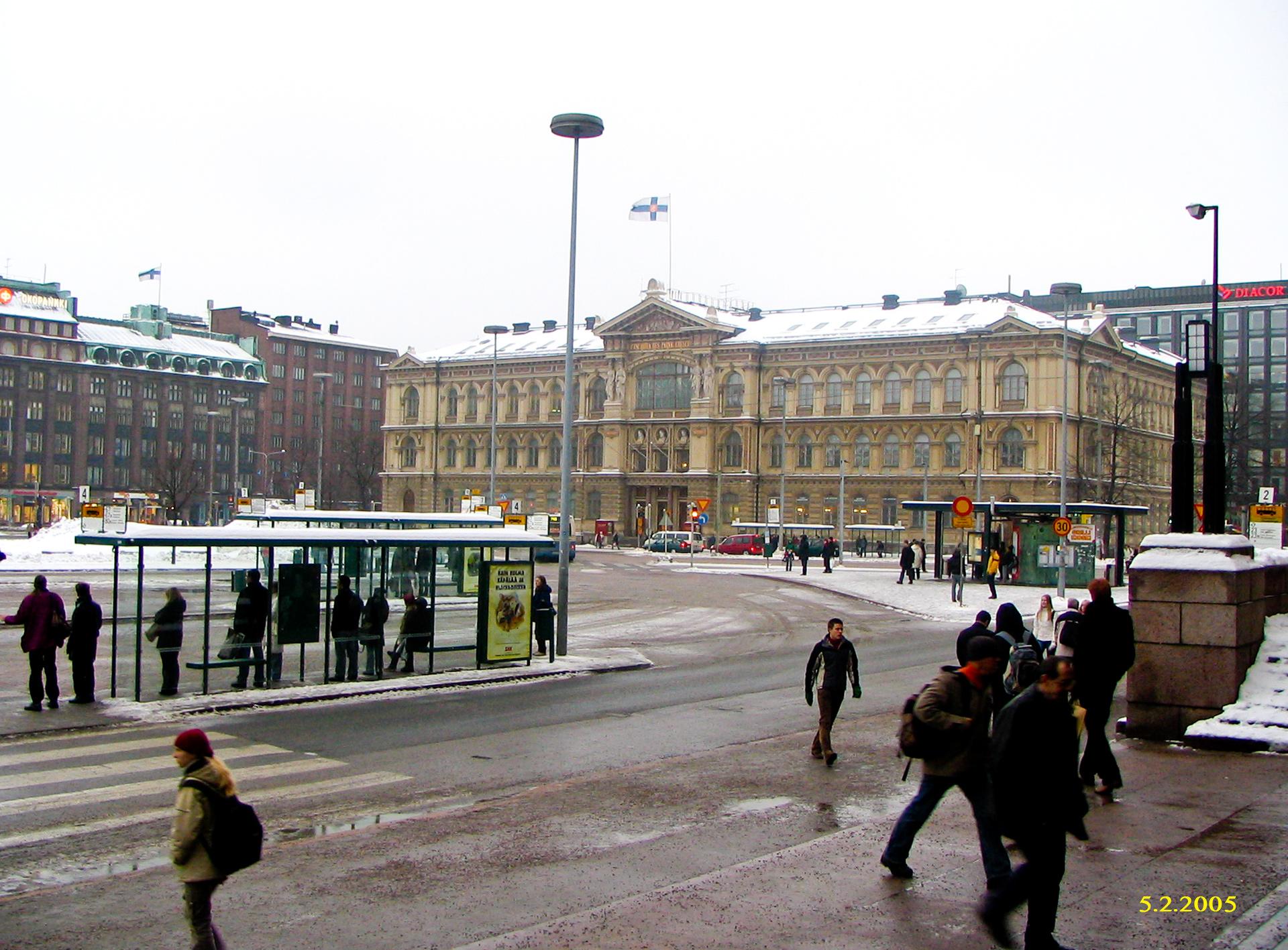 Junalla Helsinkiin