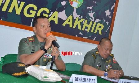 Danrem 141/Tp, Panitia HUT TNI Ke-74 Tahun 2019, Harus Bekerja Lebih Keras Dari Biasanya