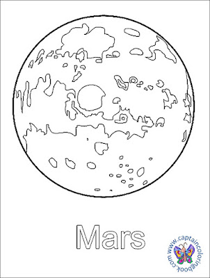 Solar System Coloring Pages MARS
