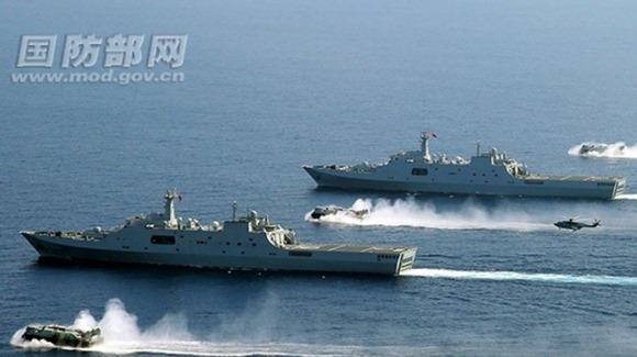 Trung Quốc tiến hành diễn tập quân sự lớn trên Biển Đông và biển Hoa Đông