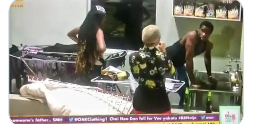 #Bbnaija2020-Commotion as Neo washed Vee's underwear
