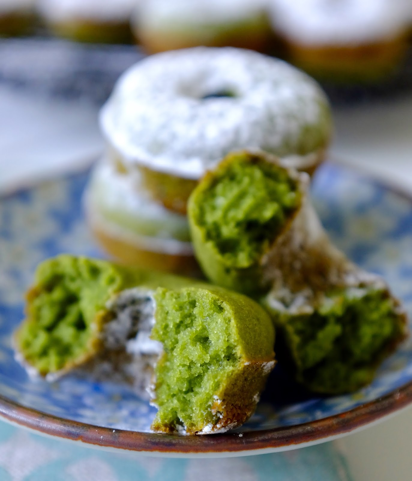 CAKE ON THE BRAIN: Mini Matcha Mochi Doughnuts (gluten free)