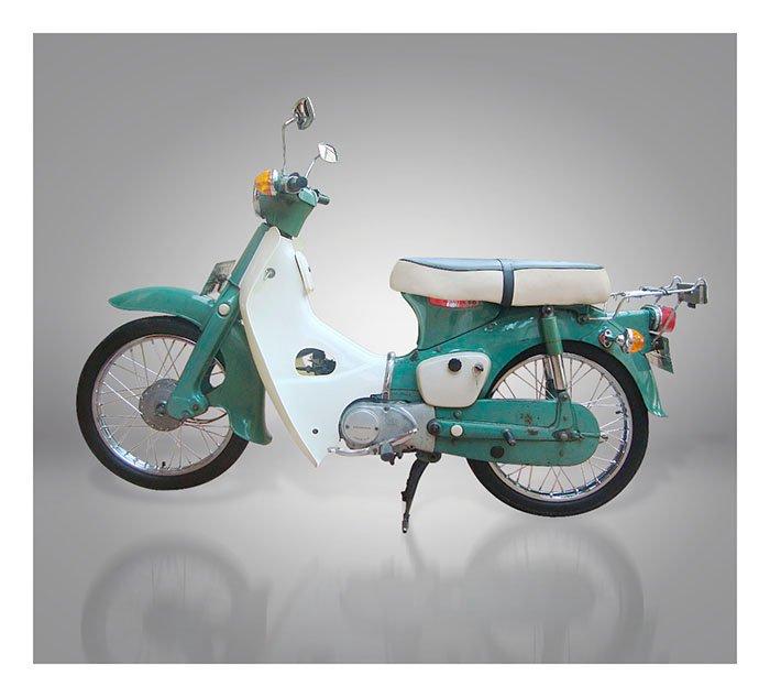 Old Classic Motorcycles : 1975 Honda C50