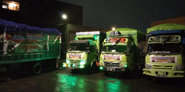 Dirlantas Polda Jateng Kirim 4 Truck Bantuan Untuk Korban Gempa di Sulawesi Barat