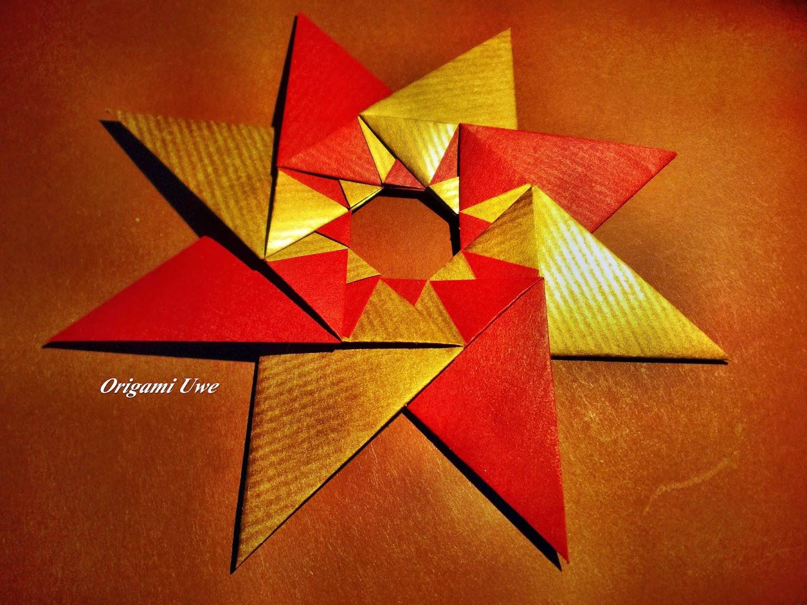 Origami, Fleurogami und Sterne: Modular Origami Star - photo#36