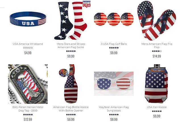 patriotic men's accessories, patriotic apparel