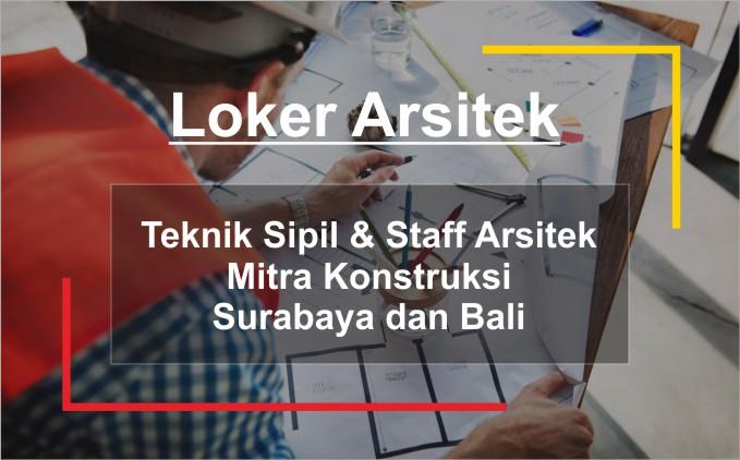loker staff arsitek dan teknik sipil