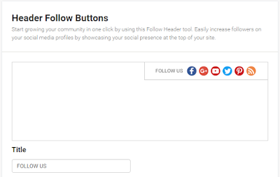 how to add follow buttons in blogger