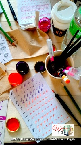 Calligraphy with Alexis Ventura of Ink Scribbler