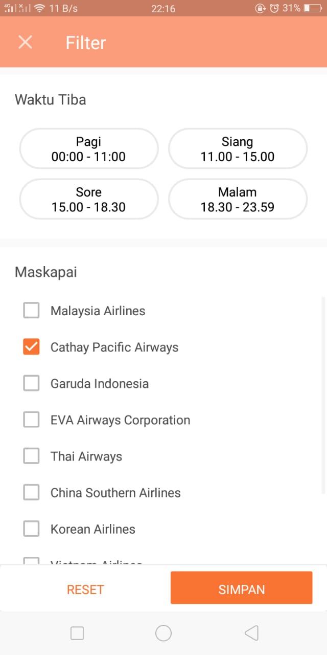 Tiket Pesawat Murah cathay pacific