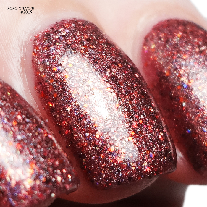 xoxoJen's swatch of Literary Lacquers Autumn Fire