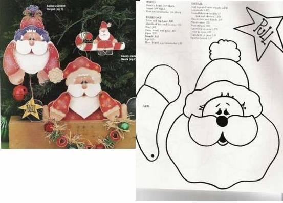 Manualidades fieltro Navidad moldes papa Noel