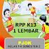 RPP PJOK SD Kurikulum 2013 (1 Lembar) Kelas 1-6 Semester 2