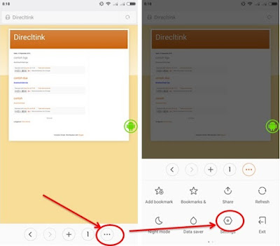 setting desktop site in android browser