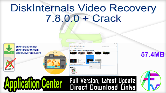 DiskInternals Video Recovery 7.8.0.0 + Crack