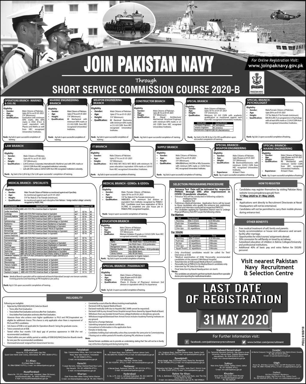 Join Pakistan Navy Short Service Commission Course 2020-B
