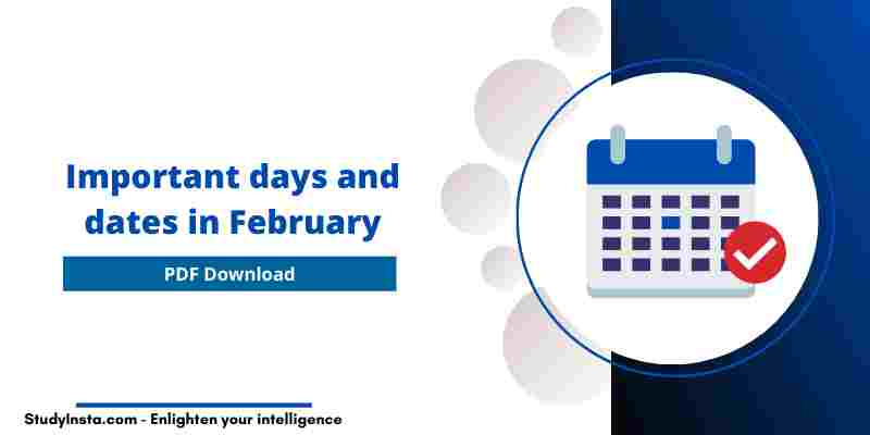 Important days and dates in February 2021