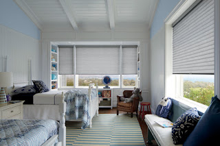 Hunter Douglas Sonnette Cellular Roller Shades are one of the energy efficient blinds featured at Just Right Blinds 2019 Oak Brook Home Show booth.