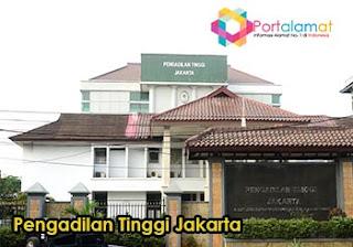 Alamat Penagdilan Tinggi Jakarta