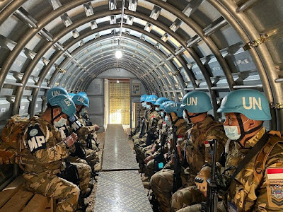 Satgas SEMPU XXV-M/UNIFIL laksanakan kegiatan Latihan Shelter dan Alert Drills
