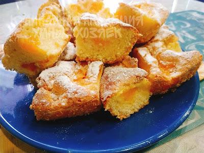 Шарлотка с мандаринами
