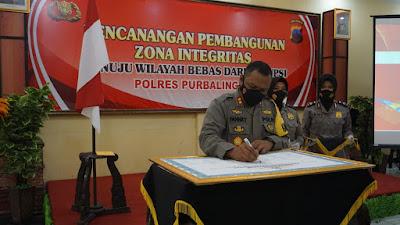 Pembangunan Zona Integritas Menuju Wilayah Bebas Dari Korupsi di Polres Purbalingga