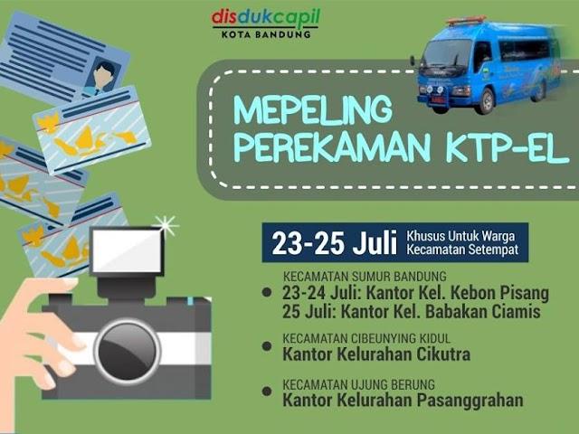 Jadwal Mepeling Pembuatan E-KTP dan Akta Kelahiran Bulan Juli 2018
