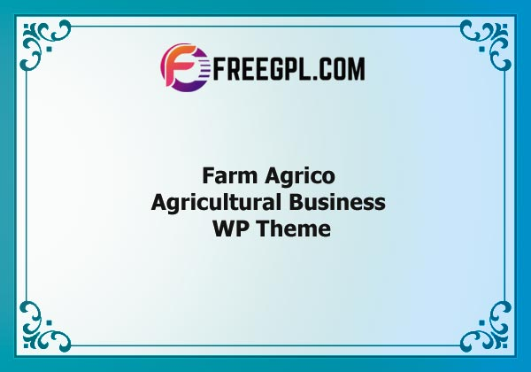 Farm Agrico – Agricultural Business WP Theme Nulled Download Free