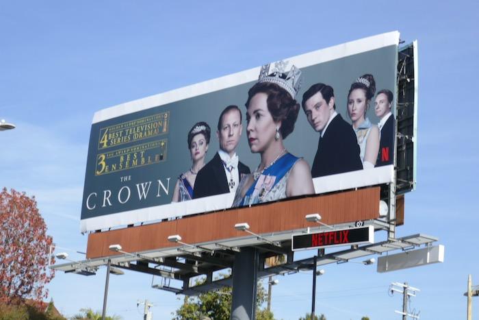 Crown season 3 Golden Globe billboard