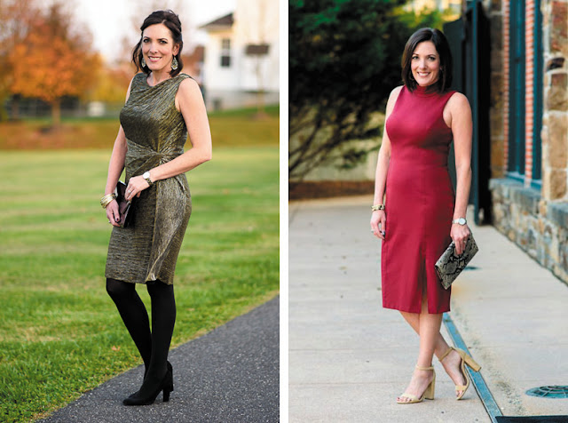 Приталенные платья длиной до колена и ниже колена
