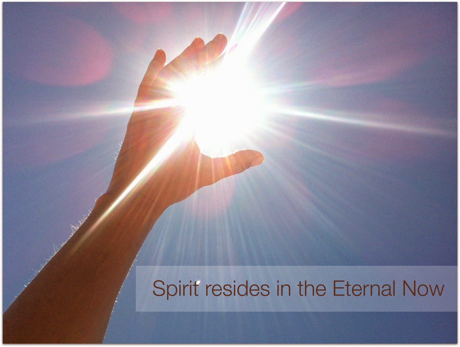Spirit resides in the Eternal Now