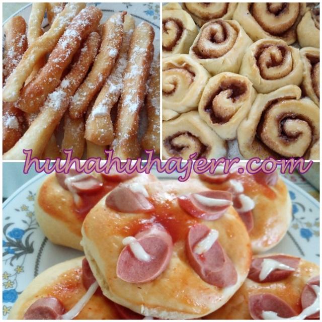 Resepi Mini Pizza. Cinnamon Roll Dan Donut  Dengan Hanya 1 Adunan Roti