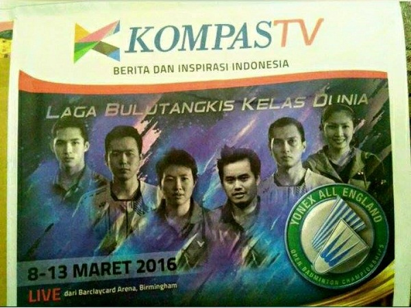 Kompas TV tayangkan All England Badminton Championship 2016