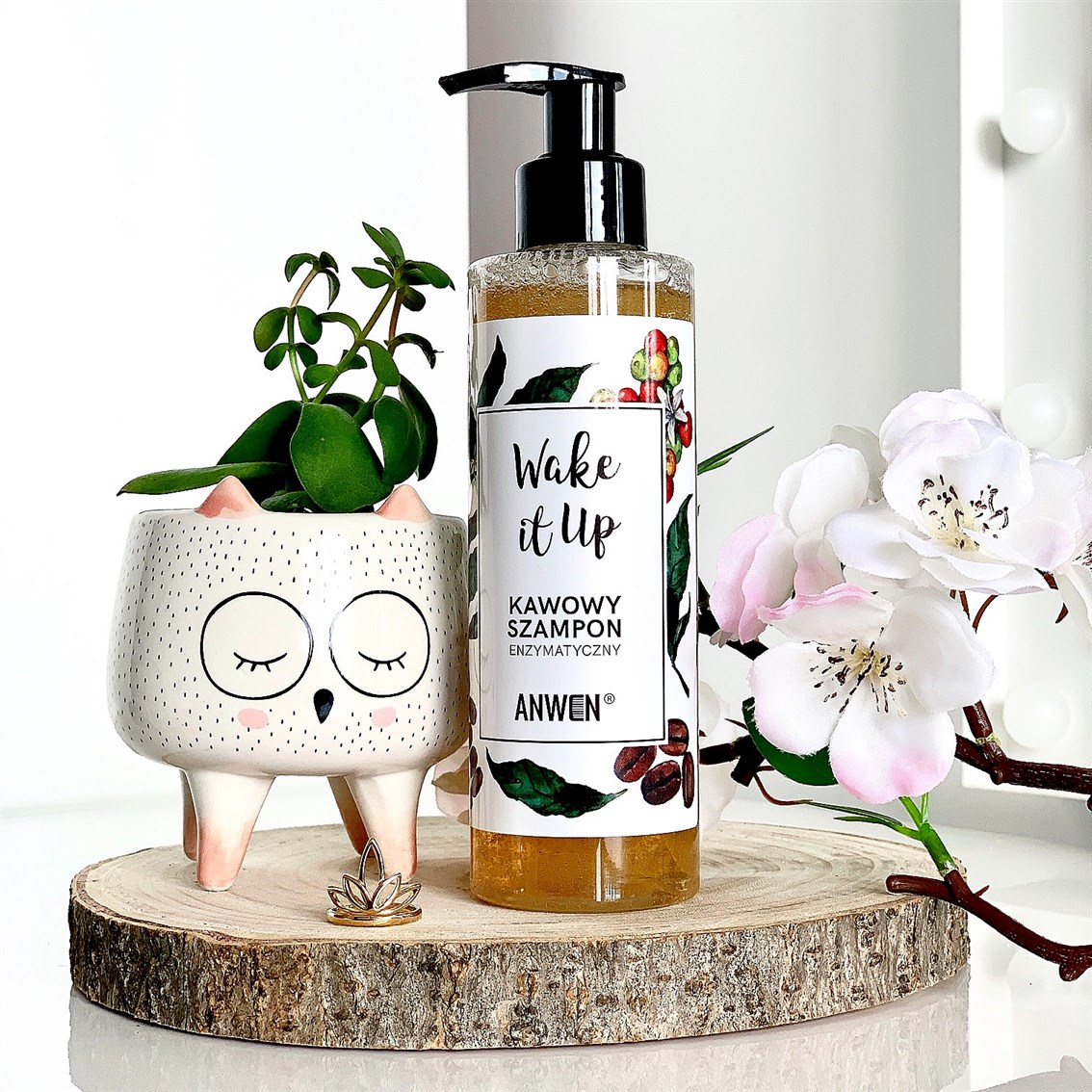 Anwen Wake It Up enzymatyczny szampon kawowy