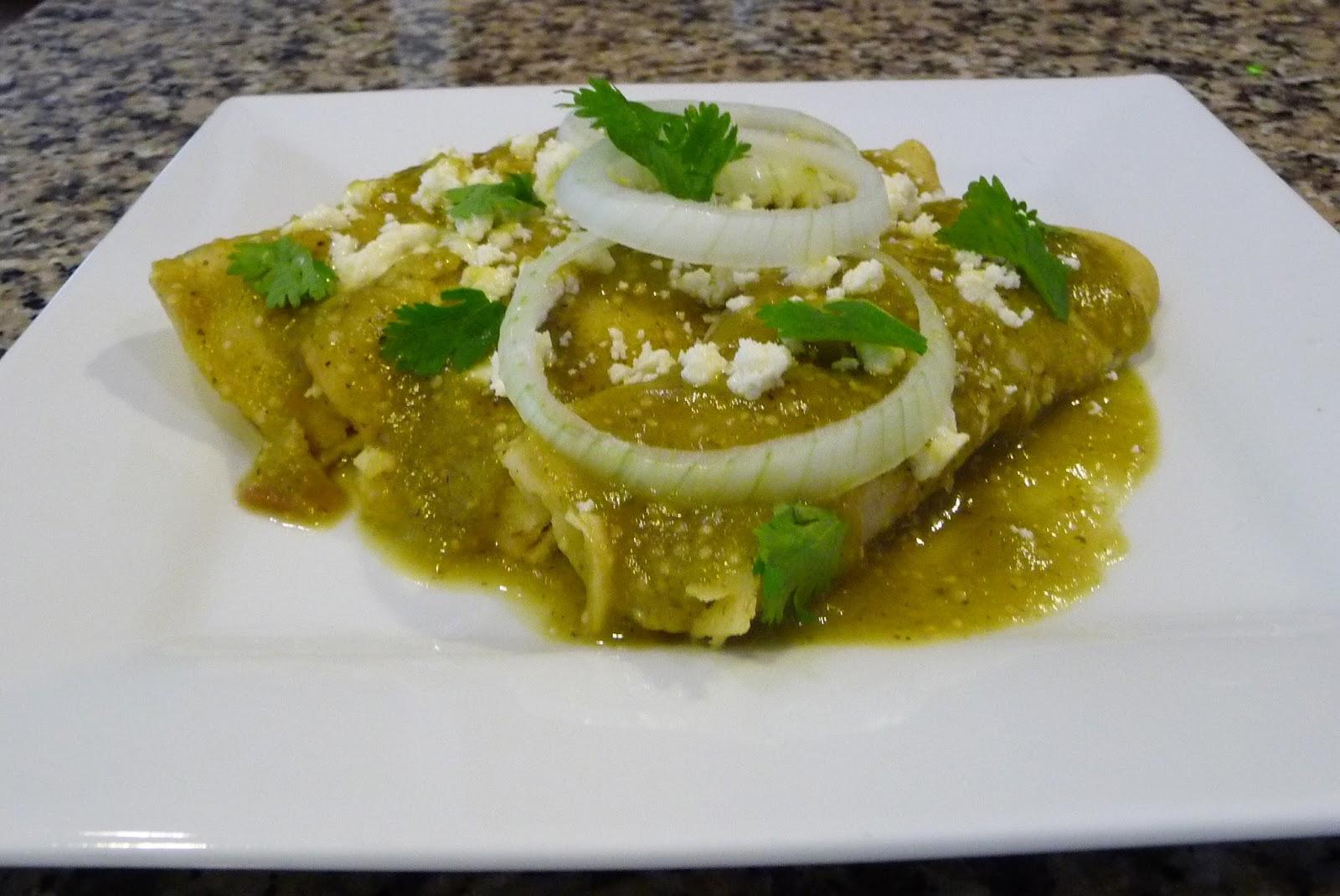 Enchiladas Verdes ~ Cocina Facil