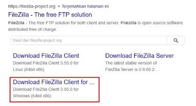 Website FileZilla
