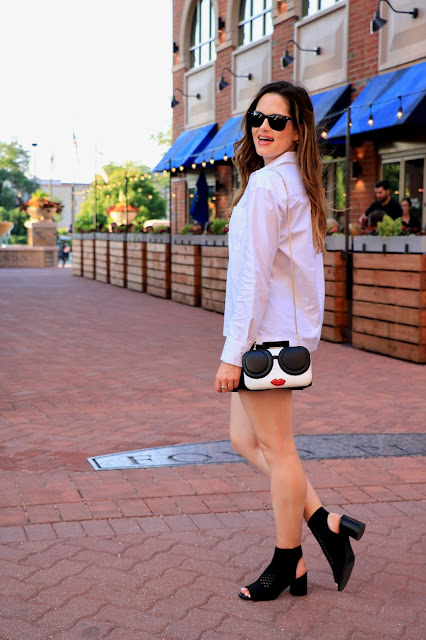 Nyc fashion blogger Kathleen Harper showing ways to wear a white blouse