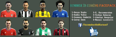 PES 2013 Summer Is Coming Facepack by AbdKursun7