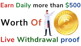 Earn Daily more than $500 worth of bitcoin, live Withdrawal proof in iamsatoshi.global