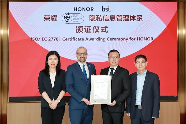 Honor ha sido certificada por la BSI británica y su sistema de gestión de la información de privacidad cumple con los estándares internacionales.