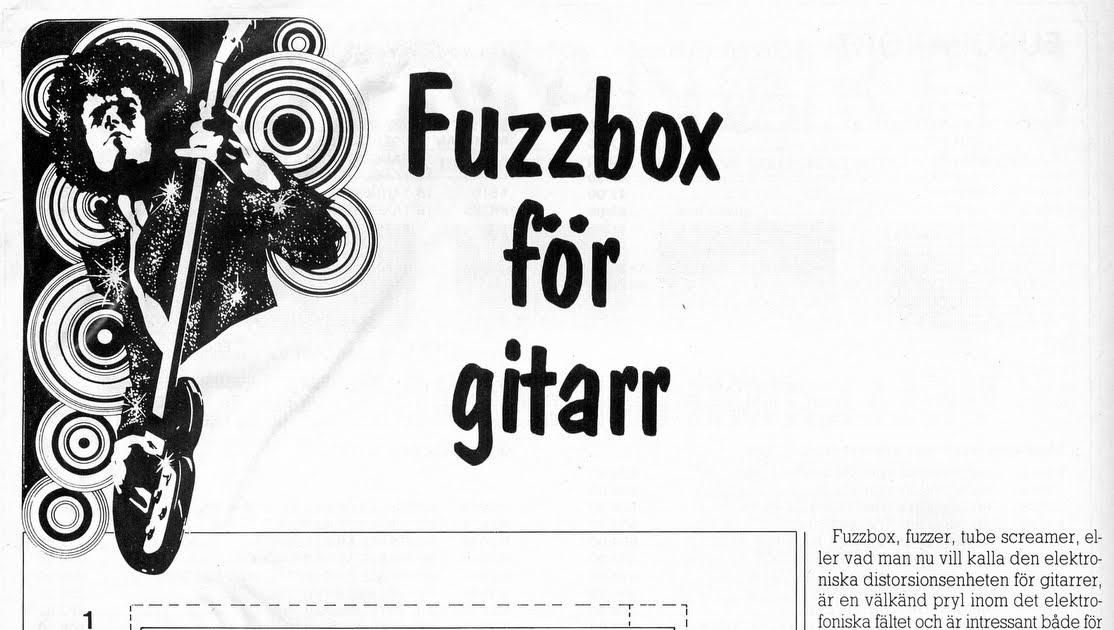 Mobila enheten: Fuzzbox för gitarr