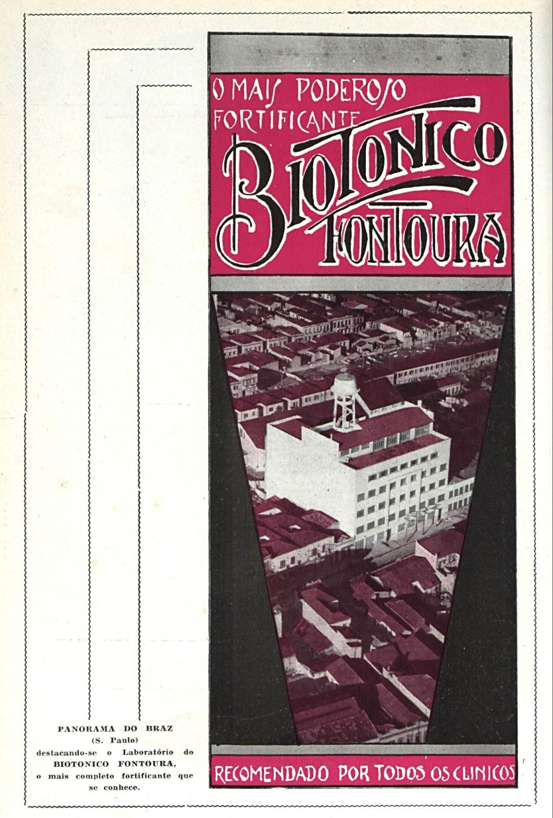 Propaganda antiga do Biotônico Fontoura veiculada em 1948