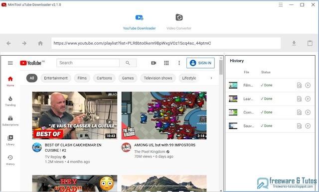 MiniTool uTube Downloader : un logiciel gratuit pour télécharger et convertir facilement les vidéos de YouTube