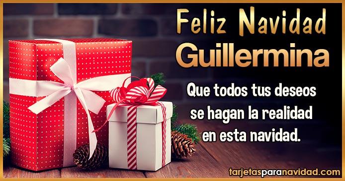 Feliz Navidad Guillermina