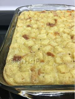 Pound Cake Bread Pudding with Coconut Milk